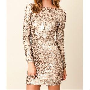 Dress the Population Sequin Bodycon Mini Dress